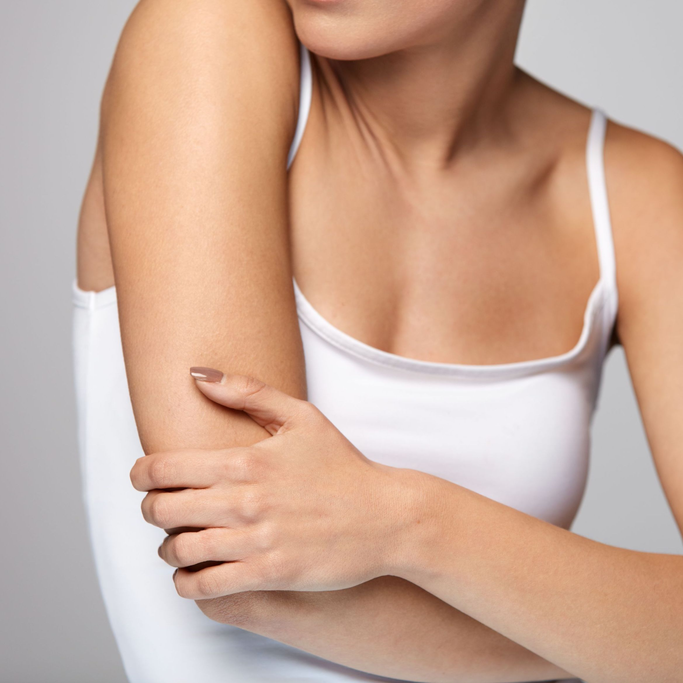 UPPER Arm Lift - A Brachioplasty can reduce the excess underarm fat and skin and help to reshape the arm, giving smoother skin and slender contours.