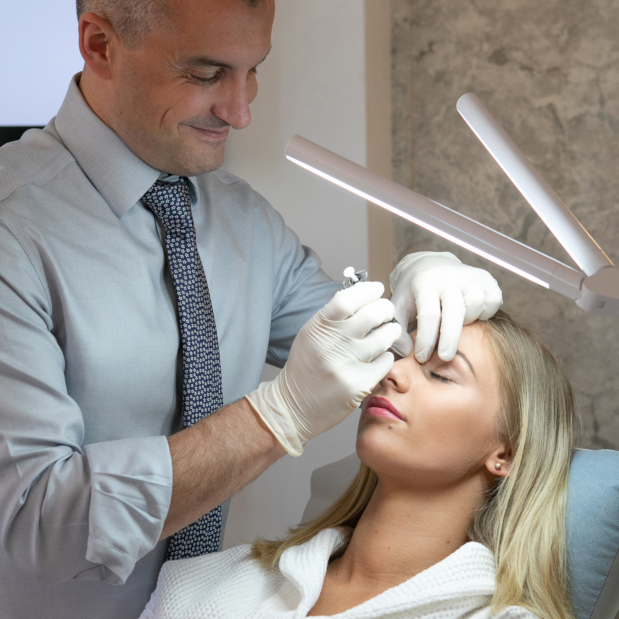 Dermal fillers - Diminishes wrinkles and gently accentuates areas such as the lips, cheeks, jawline, chin and temples. Provides natural lifting and rejuvenation with long-lasting results and no down-time.