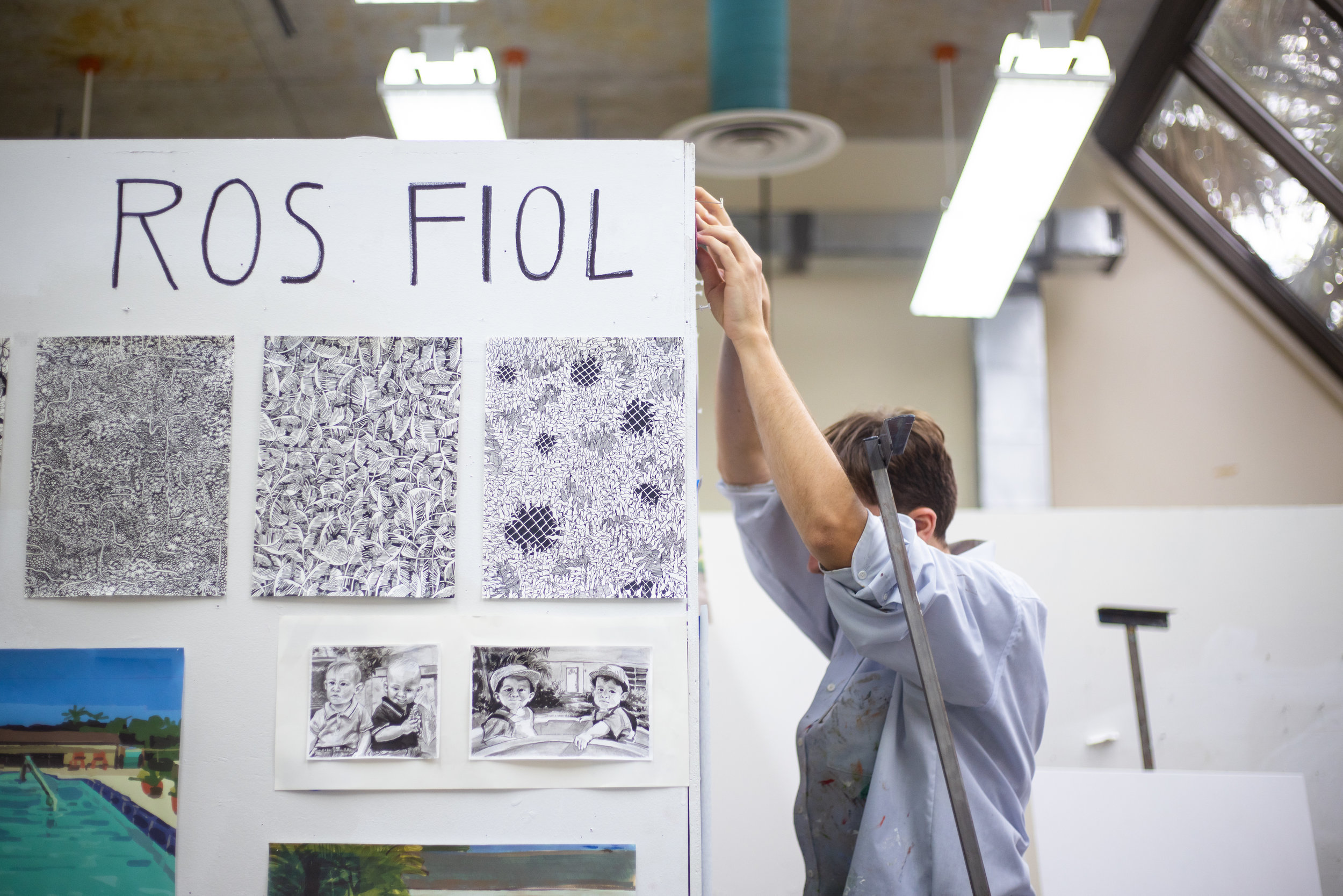 Ros Fiol pictured in his studio, located on UF's campus