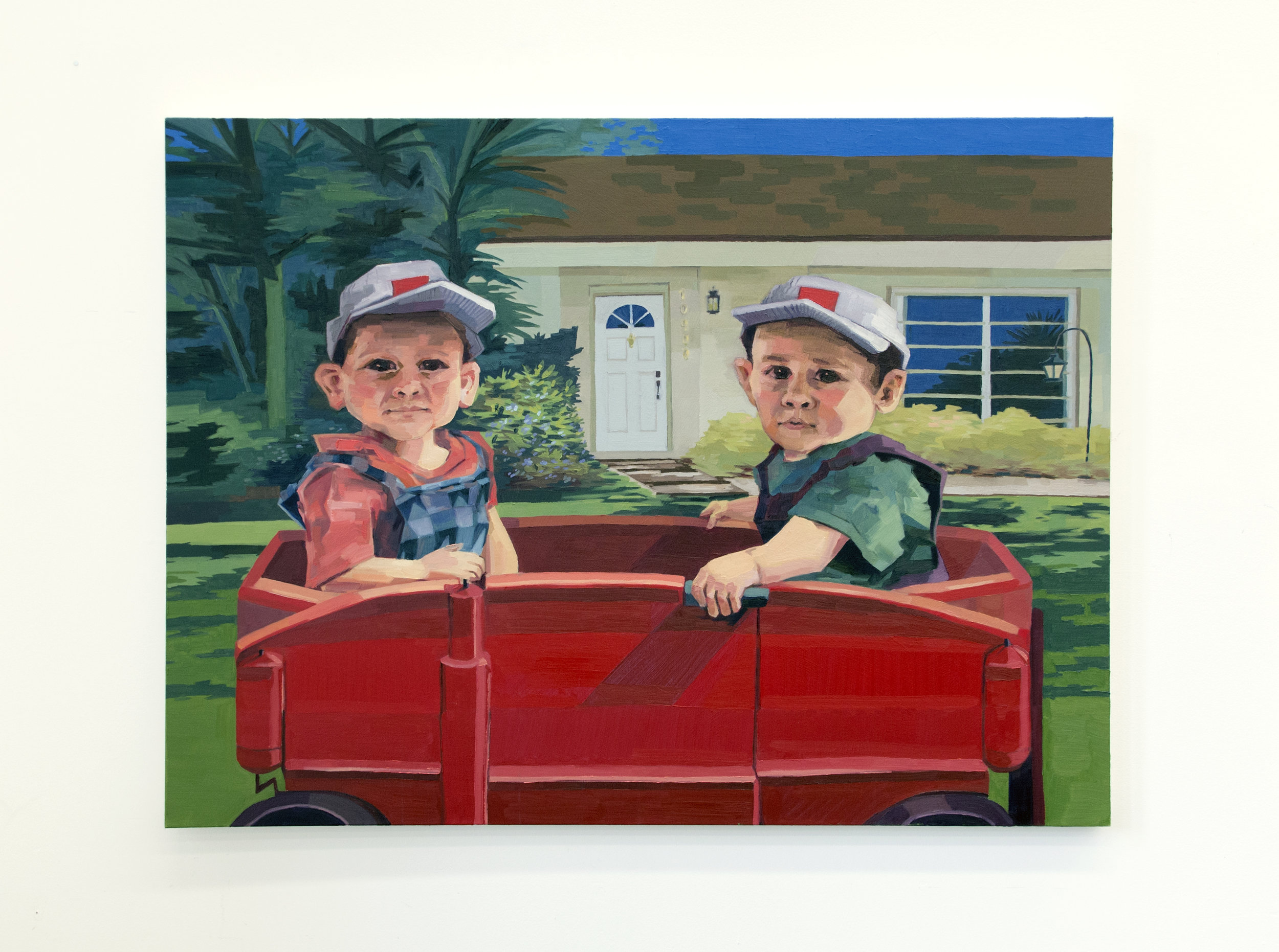 "The Boys (1998) Oil on canvas (48"" x 36"")"