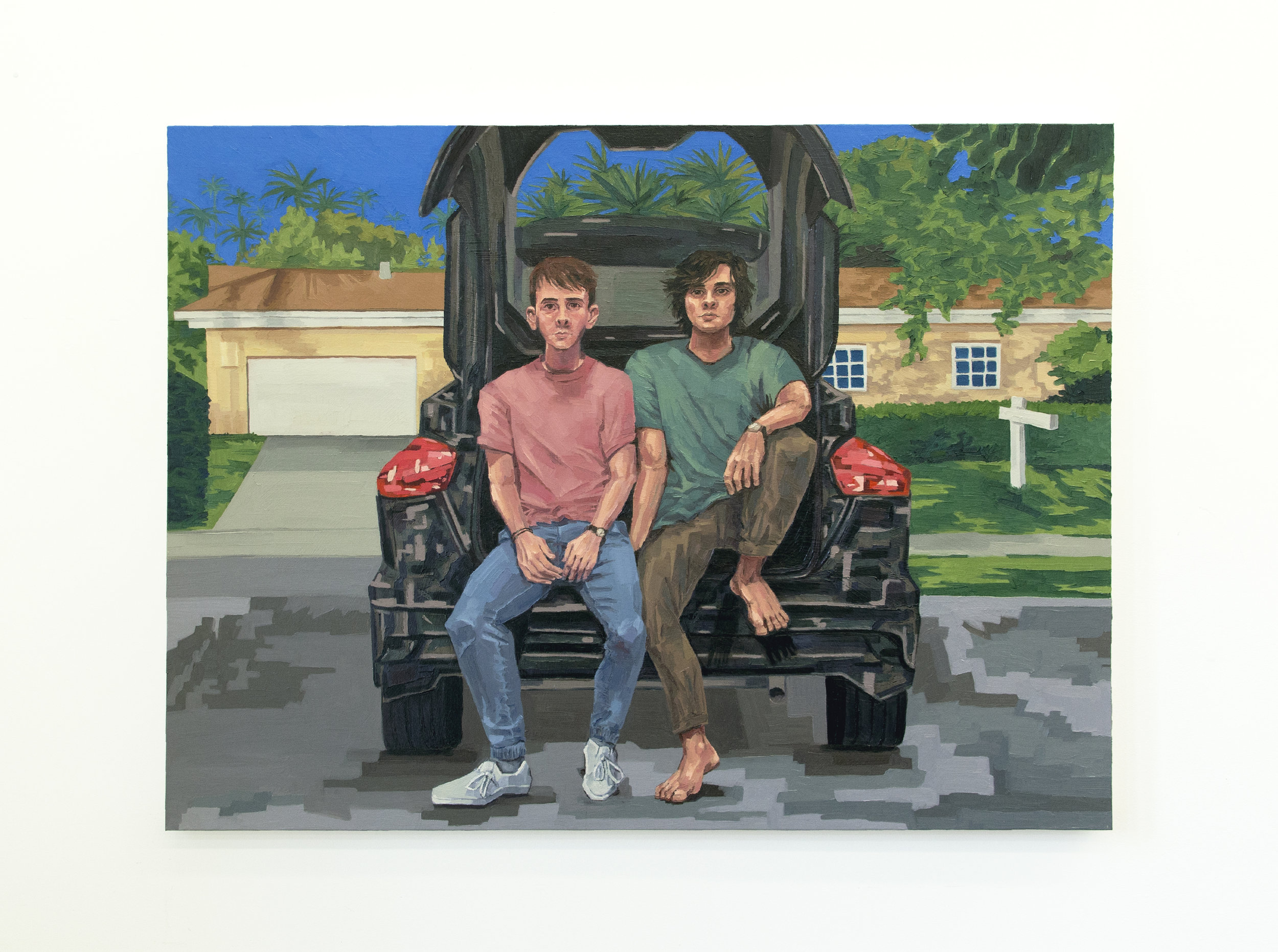 "The Boys (2018) Oil on canvas (48"" x 36"")"