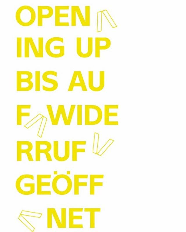 OPENING UP BIS AUF WIDERRUF GEÖFFNET 25.–28.6.2019 Public Program /ecm Masterlehrgang für Ausstellungstheorie und -praxis 2018–2020 • • • The public program inquires about the possibilities for gathering and confrontation in the public spaces of the 21st century. What do we understand by public space today? What are the discursive and technological conditions for allowance and refusal? And how can a democratic counter-public be created in the neoliberal-capitalist present, which in many places is increasingly losing its democratic infrastructure even where public resources are available? . . . #ecm #publicprogram #educating #curating #managing #counterpublics #angewandte #angewandtefestival #vienna