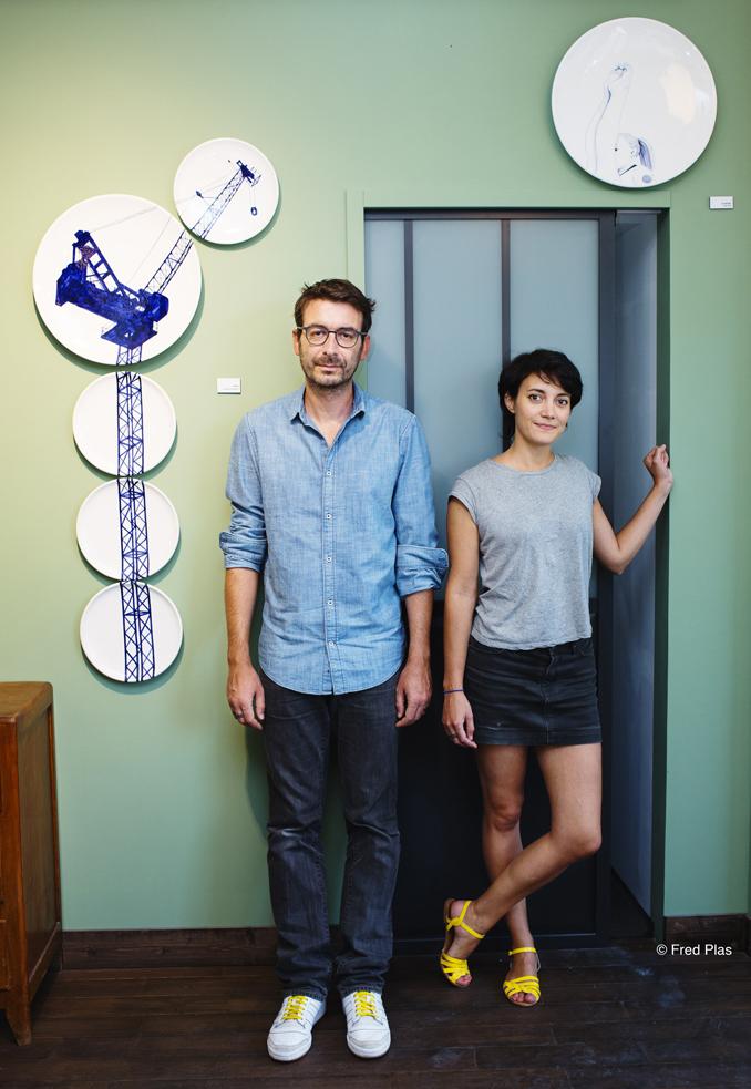 Carole Georges et Jean-François Dumont dans la nouvelle boutique en 2015
