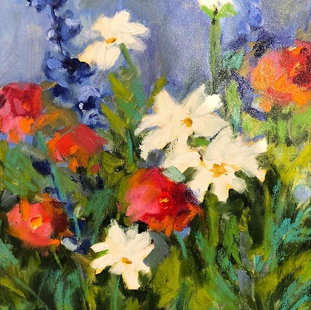Thanks to Spa Fine Art for selling these two paintings! I really appreciate all you do! #flowers#painting#oil#impressionism#color#design#homedesign#showcasehome#lorieubanksart.com