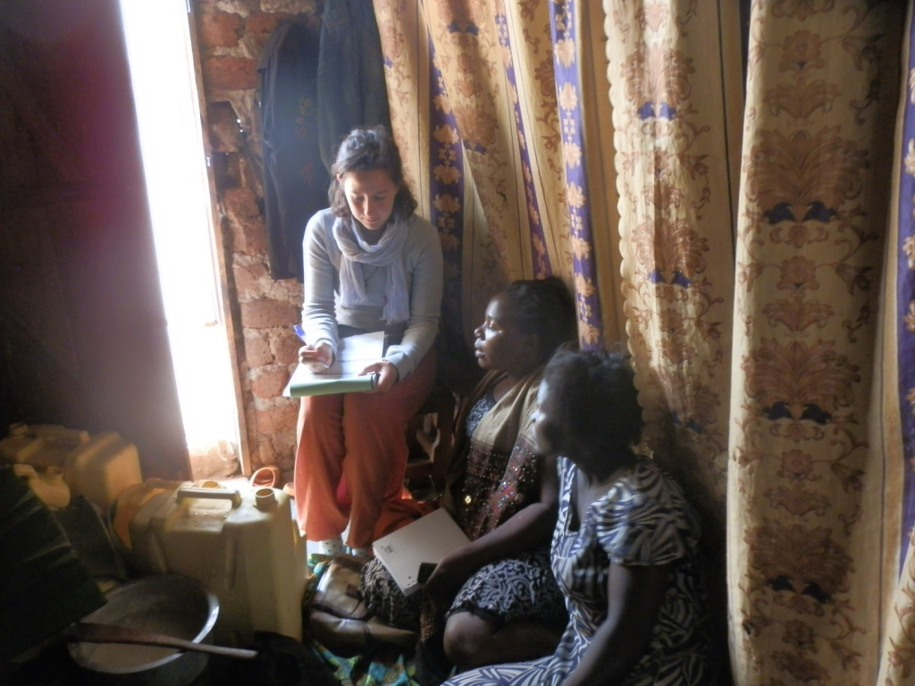 Elizabeth with Martina From Italy carrying out needs assessment in Buloba village.