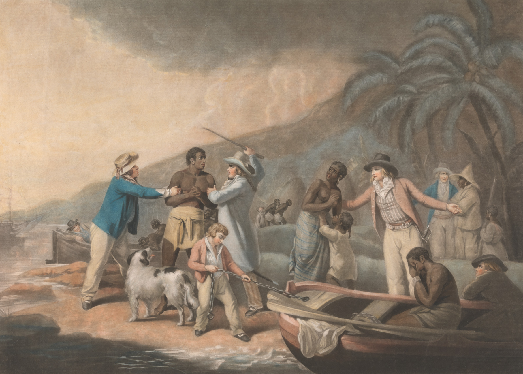 1792, Slave Trade - Original Author: George Morland, artist; John Raphael Smith, engraver (Courtesy: Yale Center for British Art, Paul Mellon Collection)