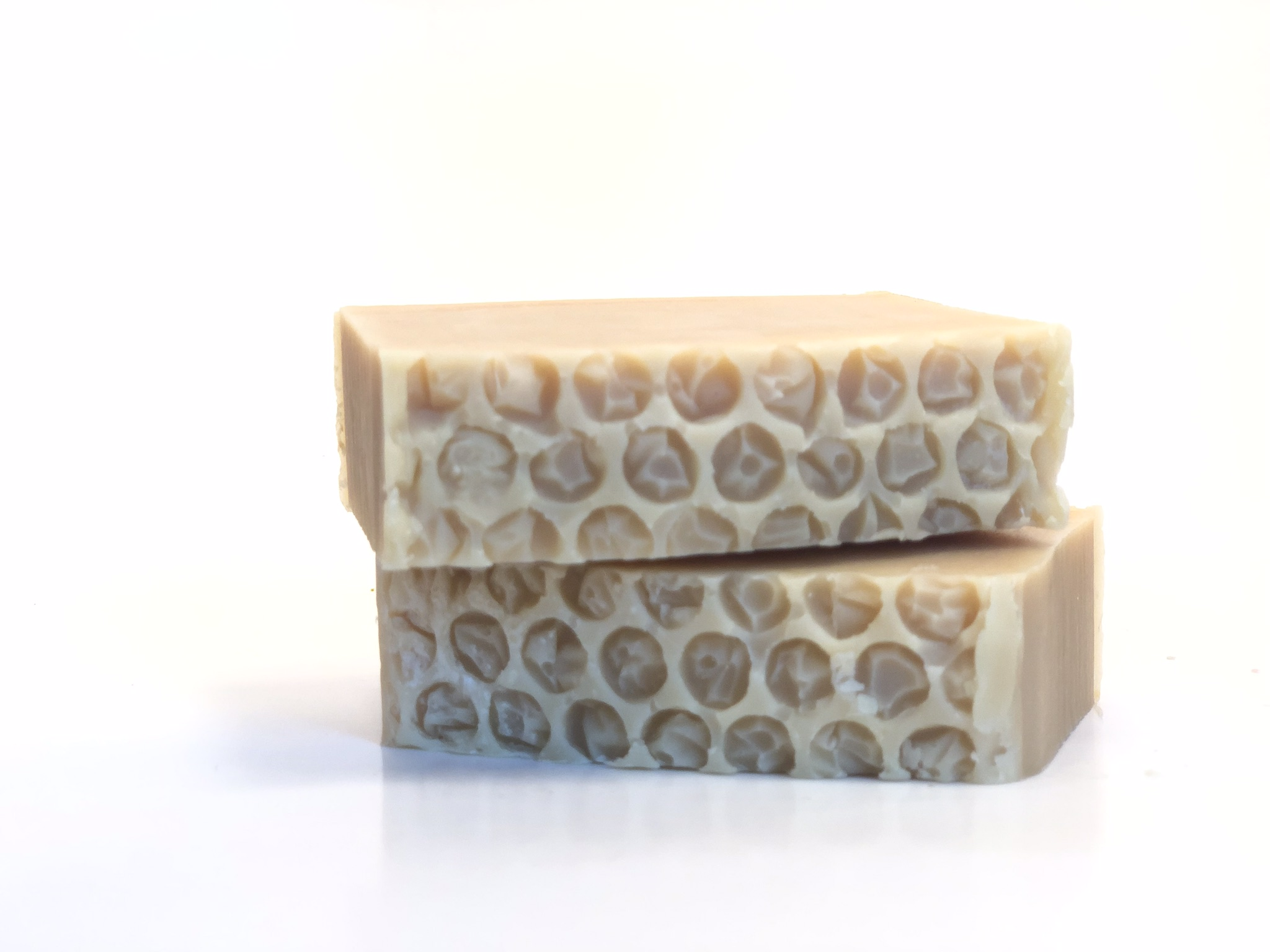 Fresh cuts of our luxurious goat milk soap