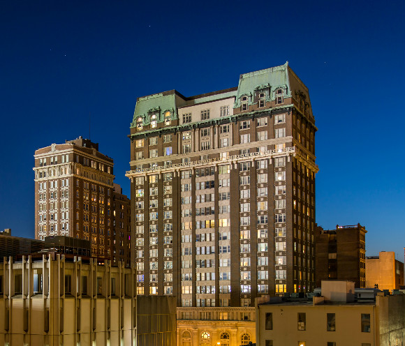 Built in 1910, The Exchange Building is a Memphis landmark and a fantastic place to rest your head.