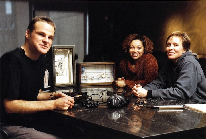 Kubick and Walsh at Whitney Museum of American Art, December 2001, with works by Joseph Cornell and Spirit Medium Valerie Winborne