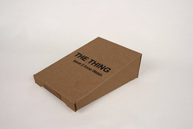 The box that  The Thing Quarterly  subscribers received in the mail.