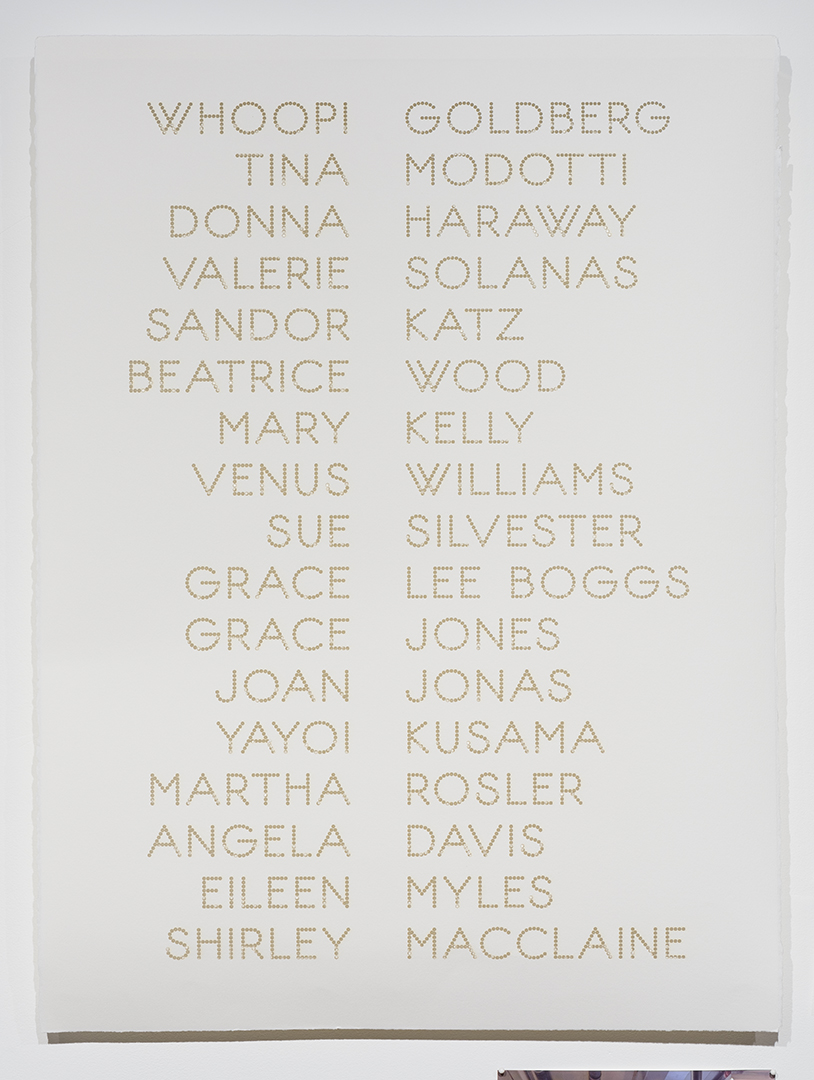 Cast List: Whoopi Goldberg , 2015, laser-cut BFK Rives paper, 28 x 22""