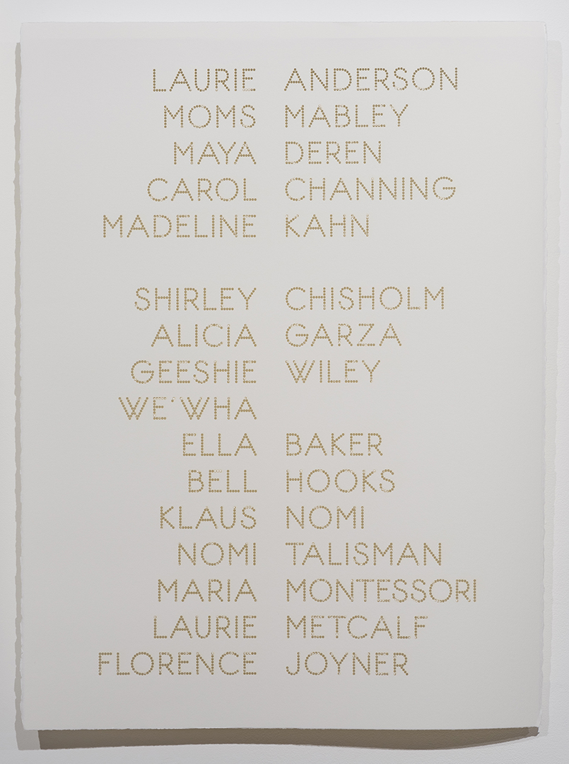 Cast List: Laurie Anderson:  2015, laser-cut BFK Rives paper, 28 x 22""