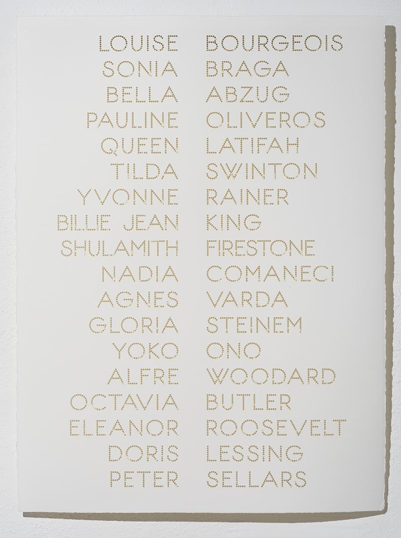 Cast List: Louise Bourgeois,  2012, laser-cut BFK Rives paper, 28 x 22""