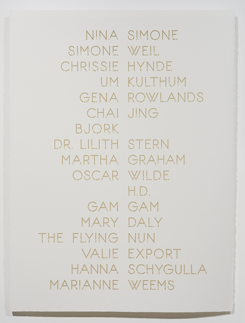 Cast List: Nina Simone,  2015, laser-cut BFK Rives paper, 28 x 22""