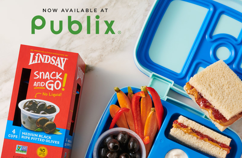 Snack and Go! - Make Back to School a little easier with Lindsay Snack and Go! Olives now available at Publix®!Find A Store Near You ➝