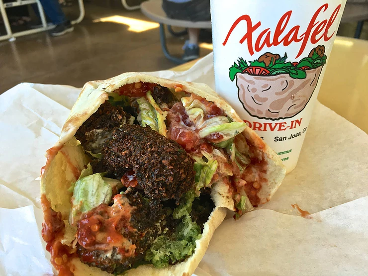 Right off of 280, Falafel Drive-In what's up.