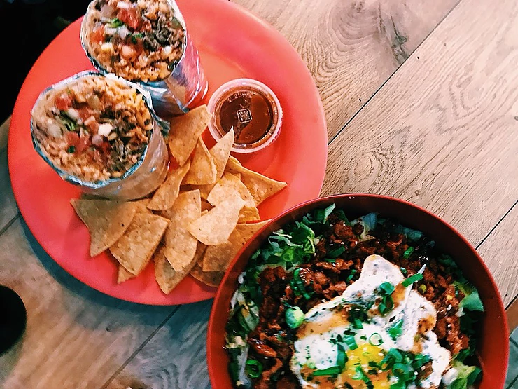 A hop away from Union Square, this spot is the spot for Korean inspired Mexican food.