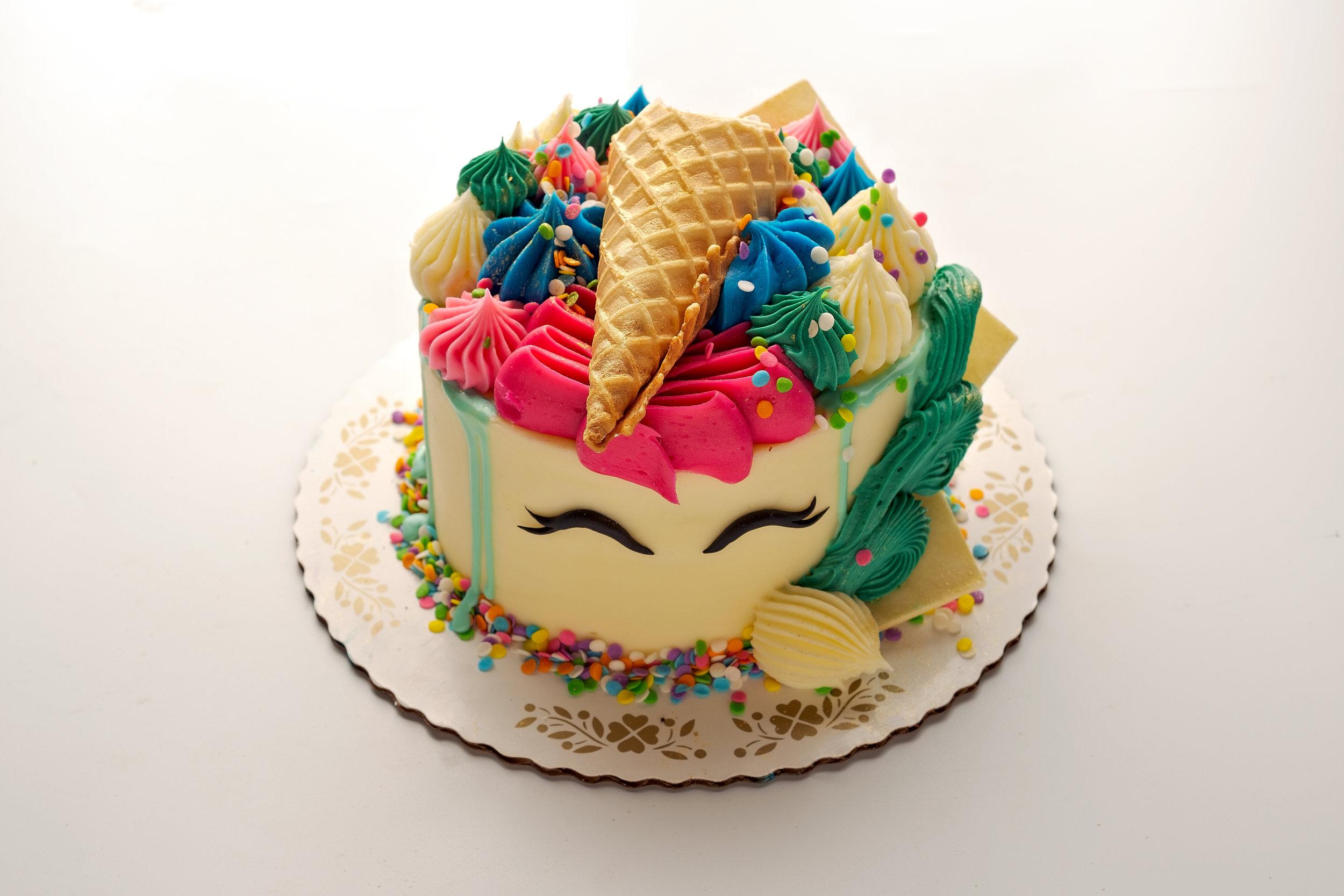 Unicorn Confetti Cake