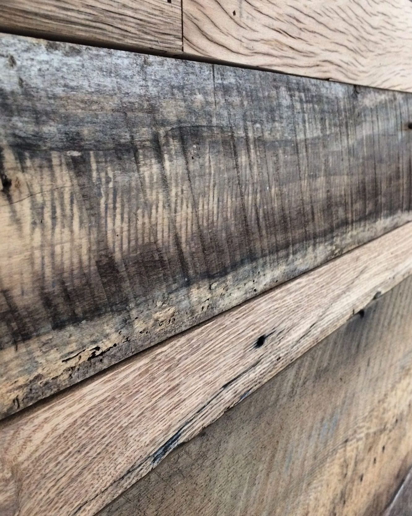 BARN SIDING - Most of our barn siding is black, however we occasionally get red siding.