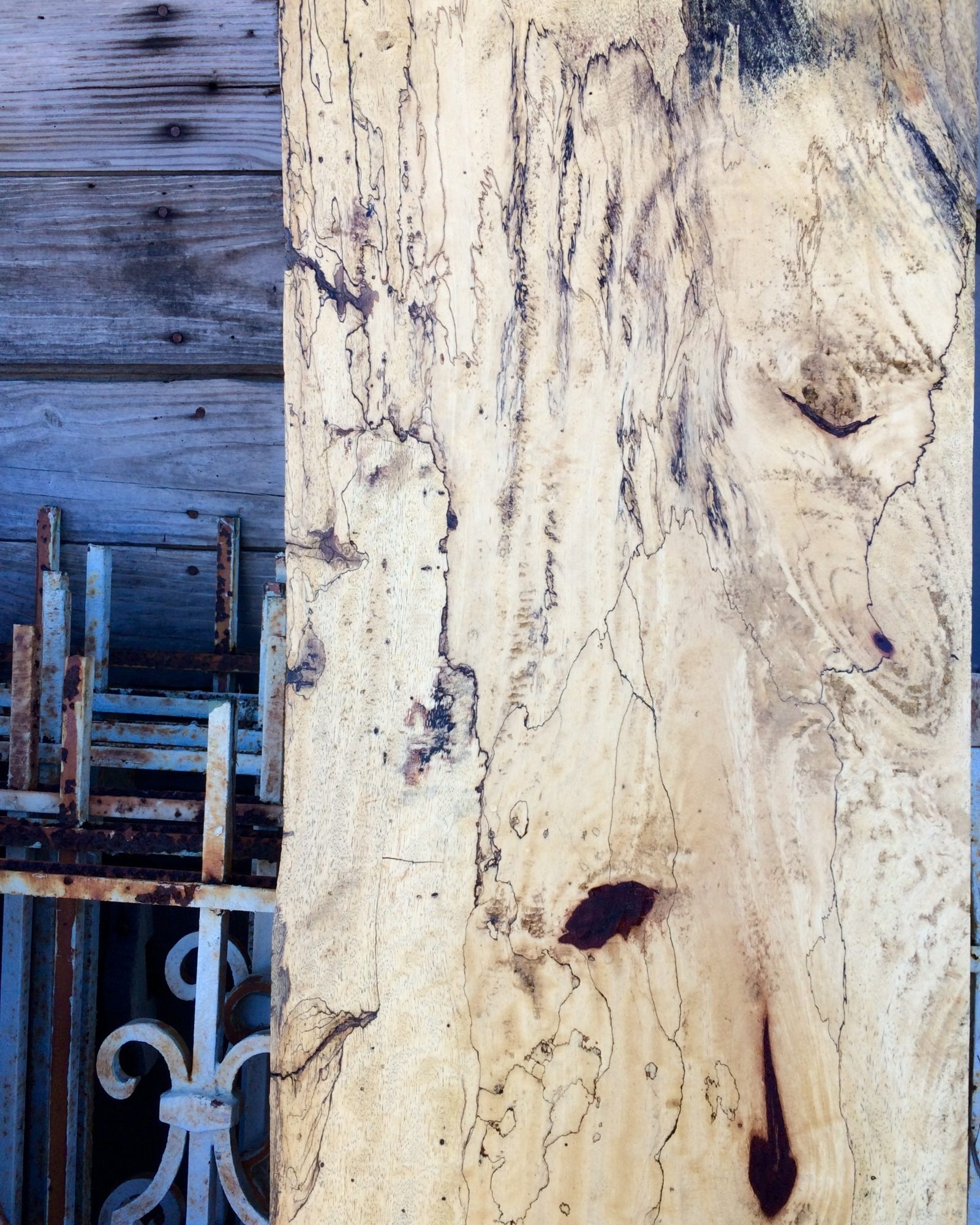 SPALTED TAMARIND - Spalted Tamarind is another one of our exotic woods from Sri Lankan rain forest. The spalting occurs due to a fungus that grew in the tree.