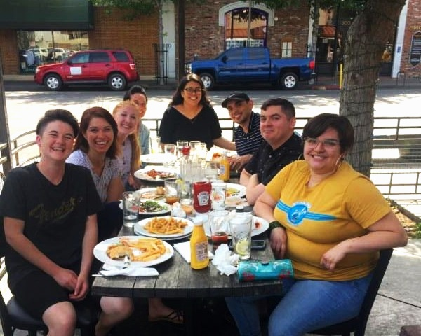Our Spring 2019 Interns and Staff enjoying a goodbye lunch as our interns move on to bigger and brighter opportunities.