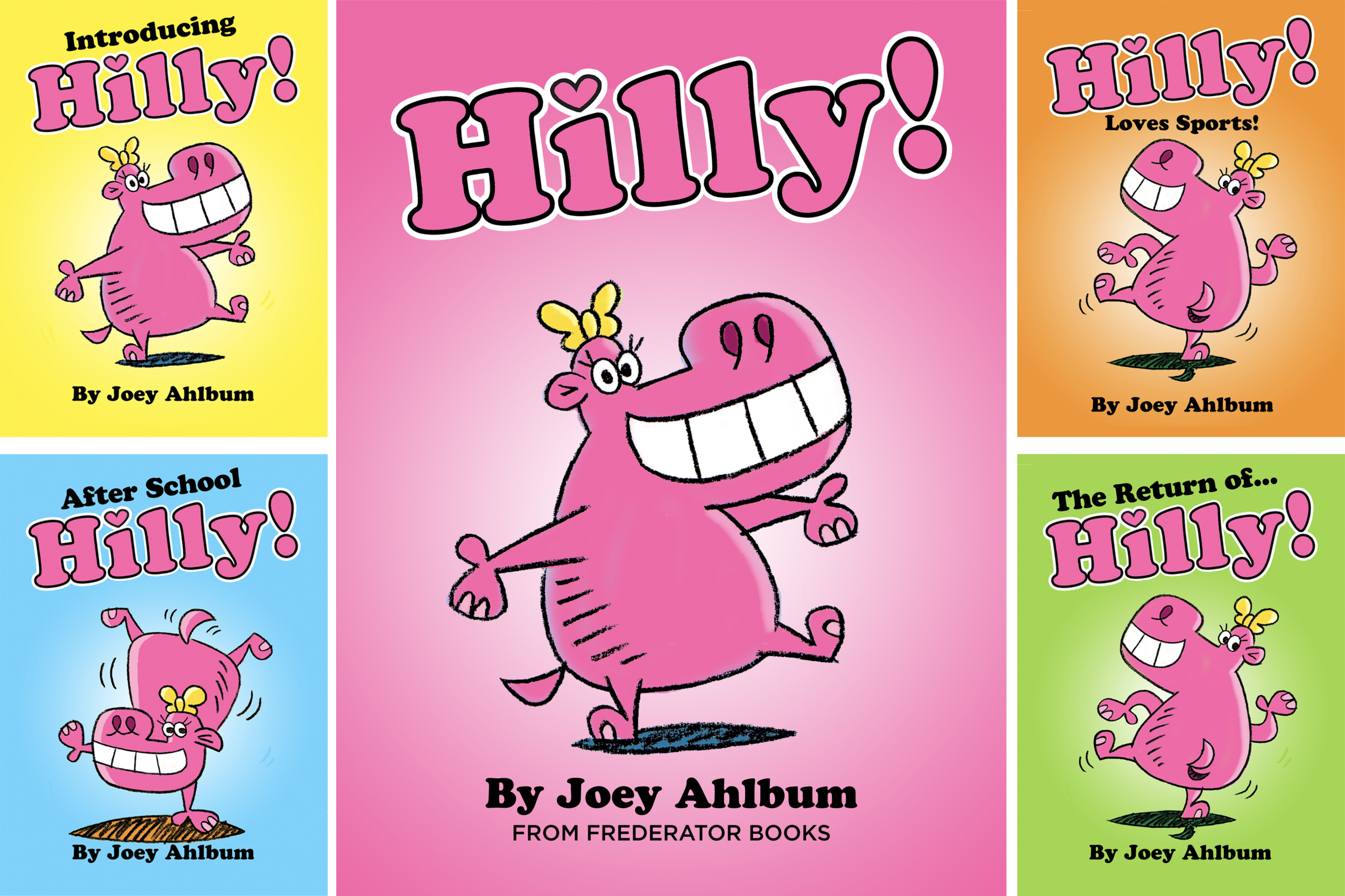 Everyone loves  Hilly the Hippo ! Hilly loves to have fun, she tries out all sorts of things to do, and finds out that hippos cannot fly! Another wonderful series from veteran animator ( Sesame Street, Elmo's World, Clifford's Puppy Days)  and author Joey Ahlbum.  You can check out Joey's animated GIF's  here  .