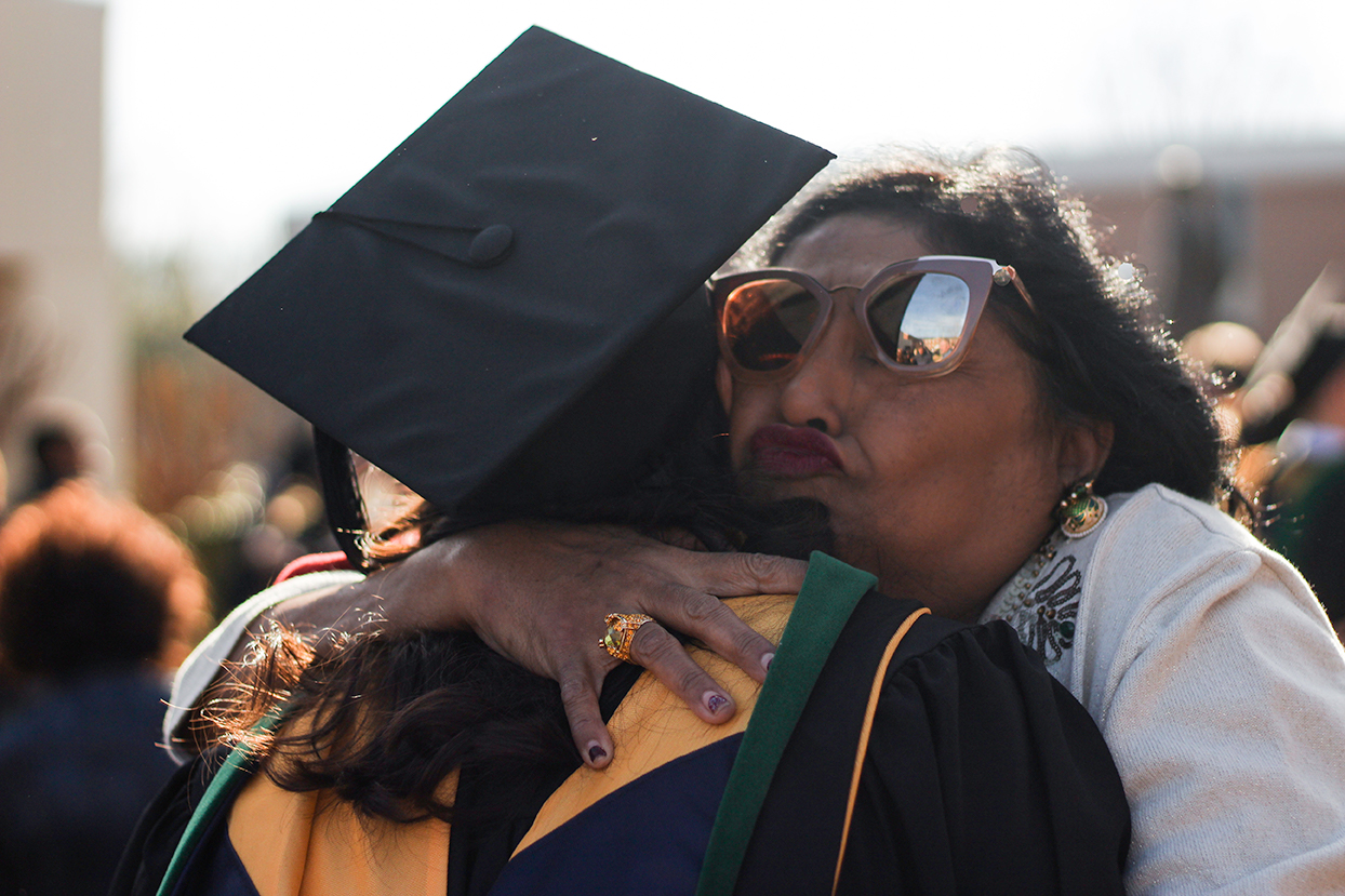 This mom was  so  proud. Graduation documentary session in North Carolina.