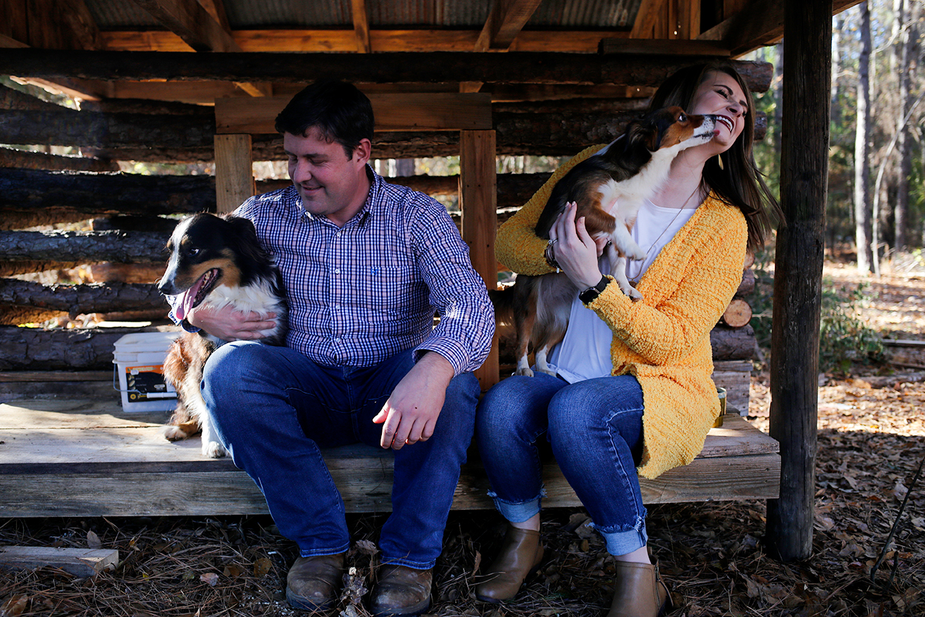 Such a fun moment with these two and their pups in North Mississippi!