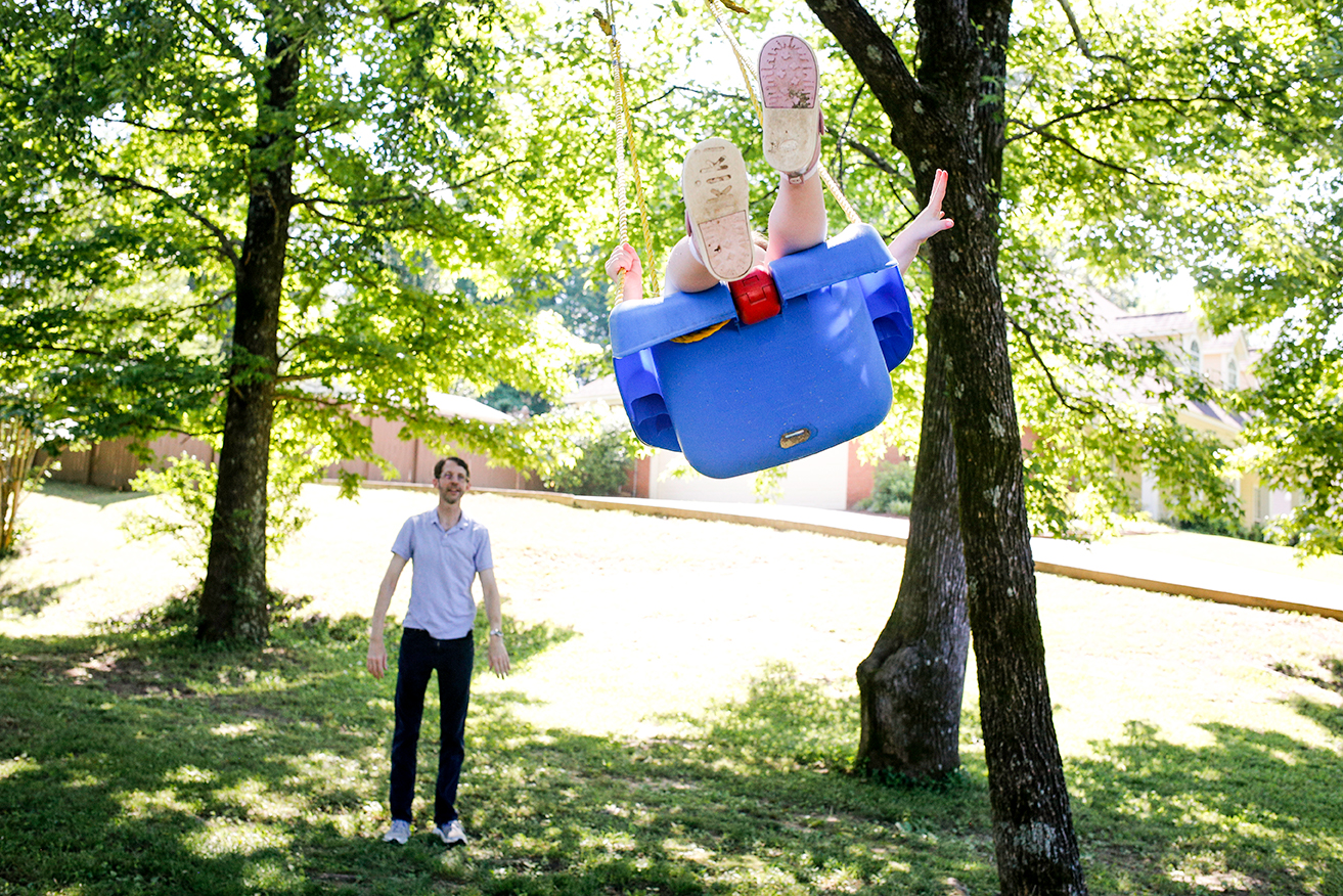 The swing in the front yard was perfect for this mini-session in Oxford, MS