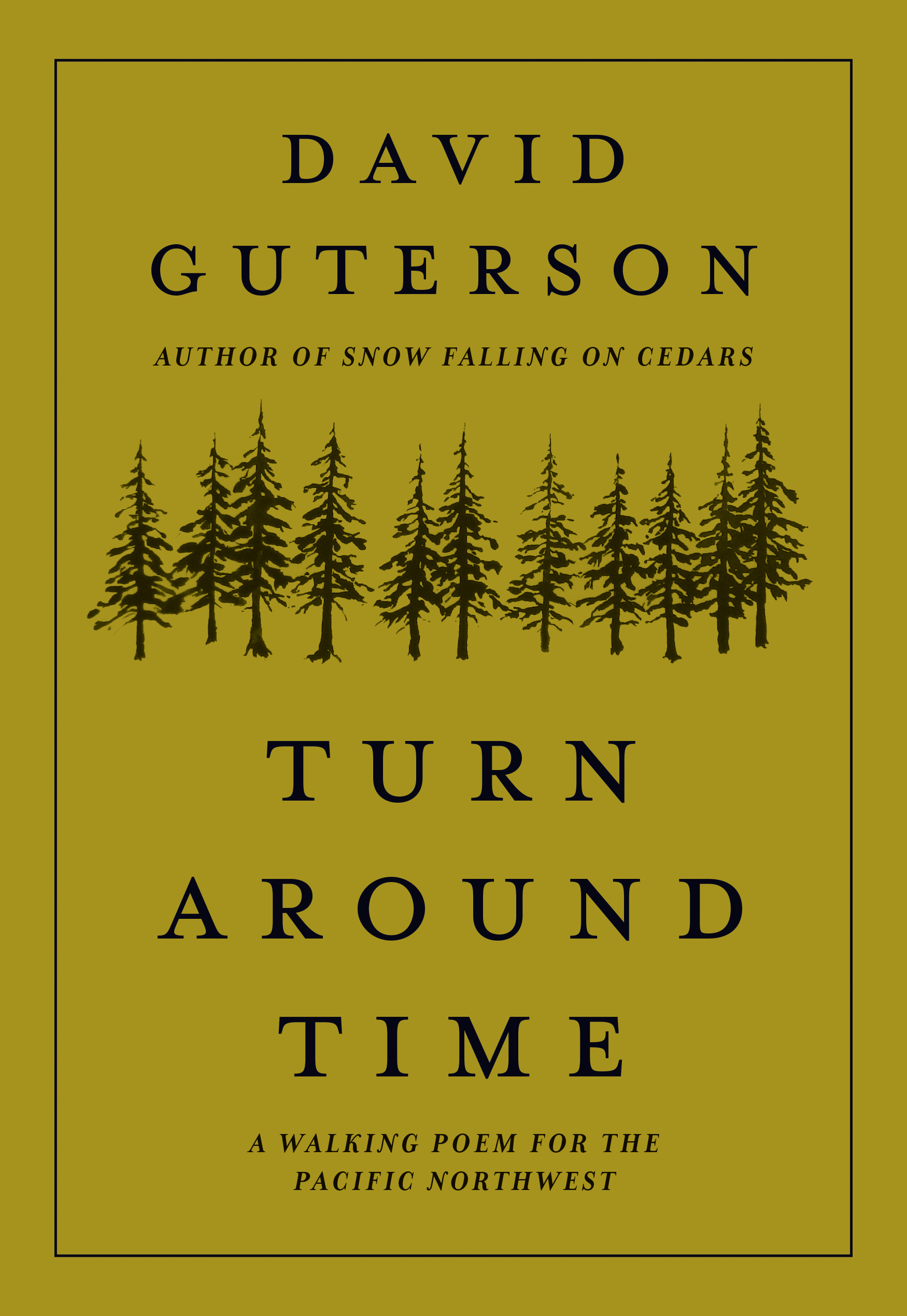 """Turn Around Time - Most outdoor enthusiasts understand the phrase """"turn around time"""" as that point in an adventure when you must cease heading out in order to have enough time to safely return to camp or home--regardless of whether you have reached your destination. For award-winning novelist David Guterson, it is also a metaphor for where we find ourselves in the middle of our lives, and his new narrative poem explores this idea through a lyrical journey along a trail, much like those in Washington's mountain ranges he hiked while growing up.Even outdoor-lovers who are not normally readers of poetry will relate to the physicality of hiking represented here, from endless trail switchbacks to foot and ankle pains. There is a fast-moving, propulsive quality to David's writing, with lush language, vivid imagery, and pacing that resonates as a journey on foot. His words are brought further to life by the delicate yet mythical illustrations by award-winning artist Justin Gibbens."""