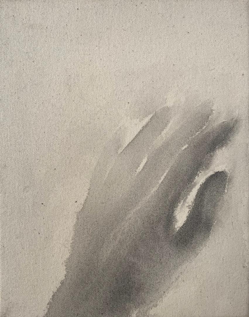 """""""Hiroshima/6,"""" 1995, sumi ink on canvas, 8"""" x 10"""""""