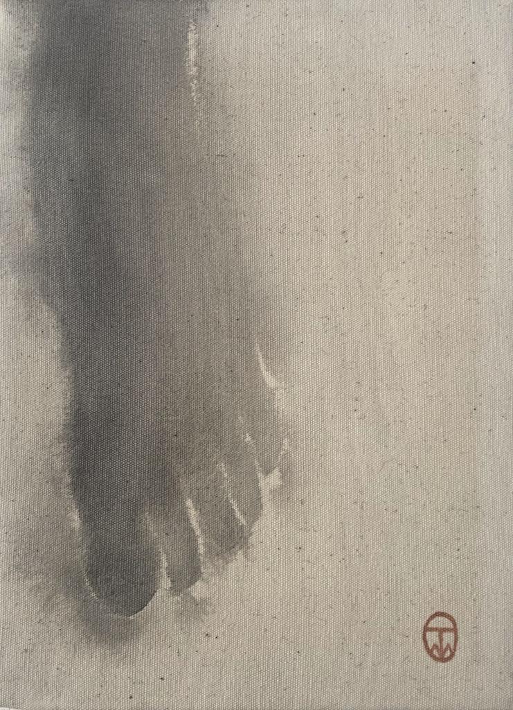 """""""Hiroshima/8,"""" 1995, sumi ink on canvas, 8"""" x 10"""""""