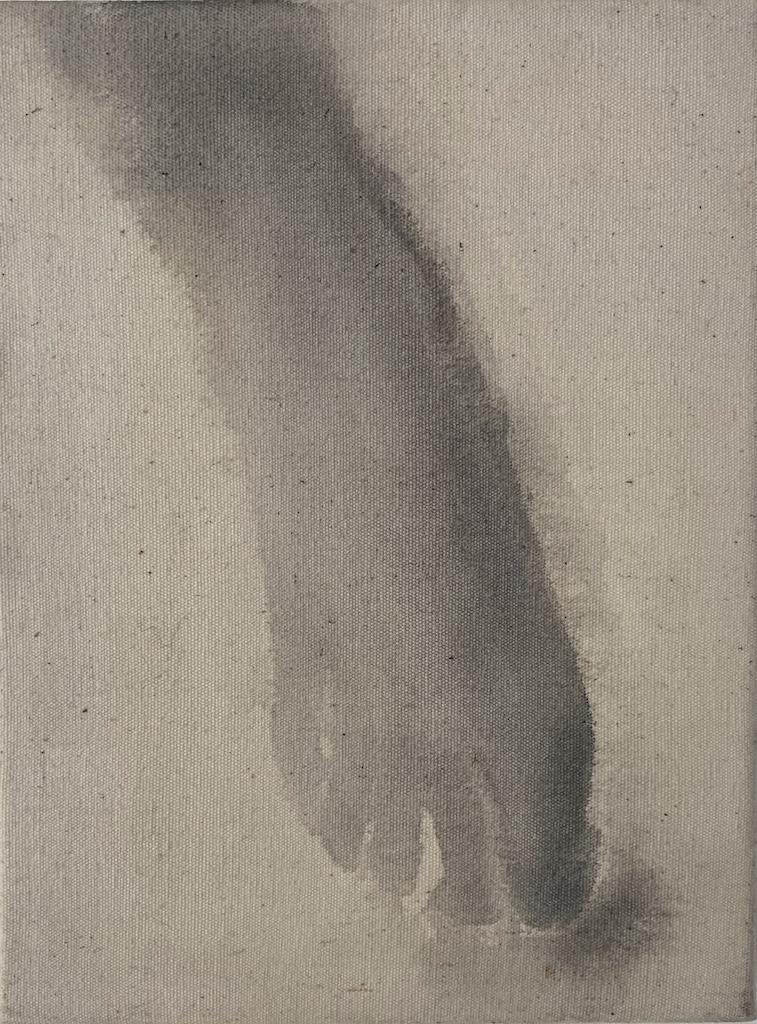 """""""Hiroshima 9,"""" 1995, sumi ink on canvas, 12"""" x 9"""""""