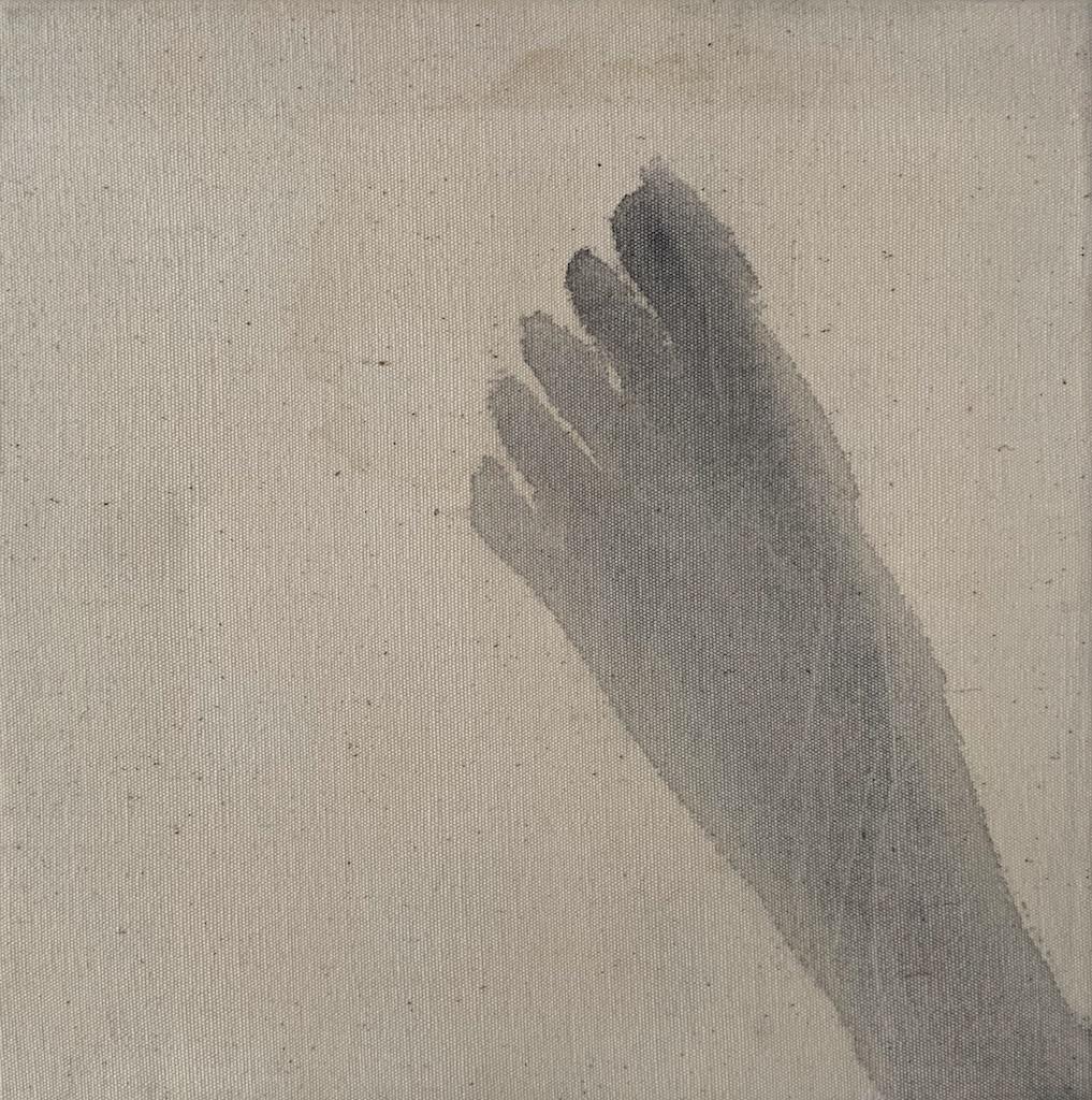 """""""Hiroshima/10,"""" 1995, sumi ink on canvas, 12"""" x 12"""""""