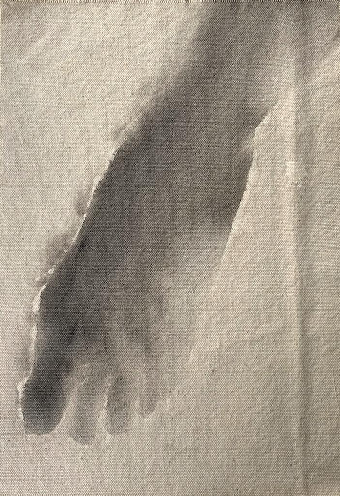"""""""Hiroshima/12,"""" 1995, sumi ink on canvas, 12"""" x 8.5"""""""