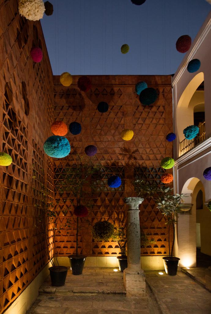 """""""Antídoto,"""" PomPom Installation, Textile Museum, Oaxaca, Mexico, 2019"""