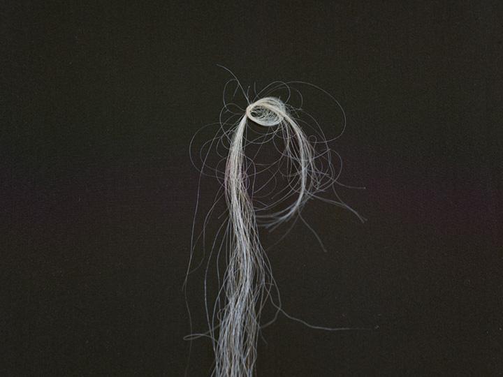 "hair detail, ""Generations,"" kimono installation"