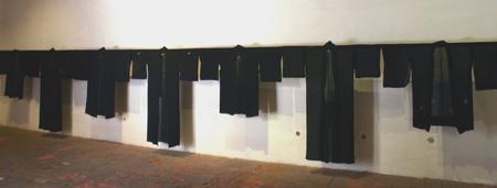 """""""Generations,"""" vintage kimono installation (7), El Museo de la Ciudad, Queretaro, Mexico, 2005"""