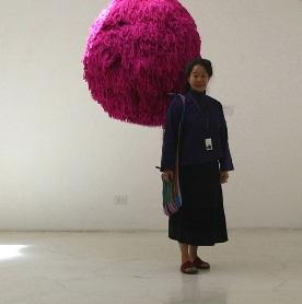 """""""Big Pink,"""" Kunsthaus Santa Fe, 2006, San Miguel de Allende, Guanajuato, Mexico"""