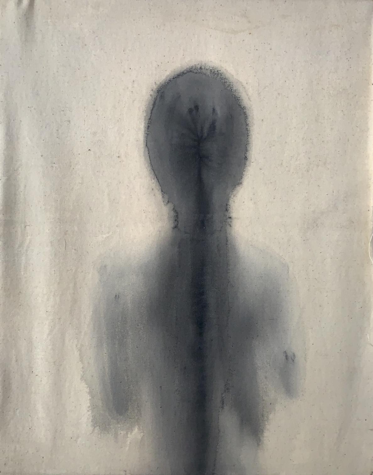 """""""Hiroshima/2,"""" 1995, sumi ink on canvas, 22"""" x 16"""""""