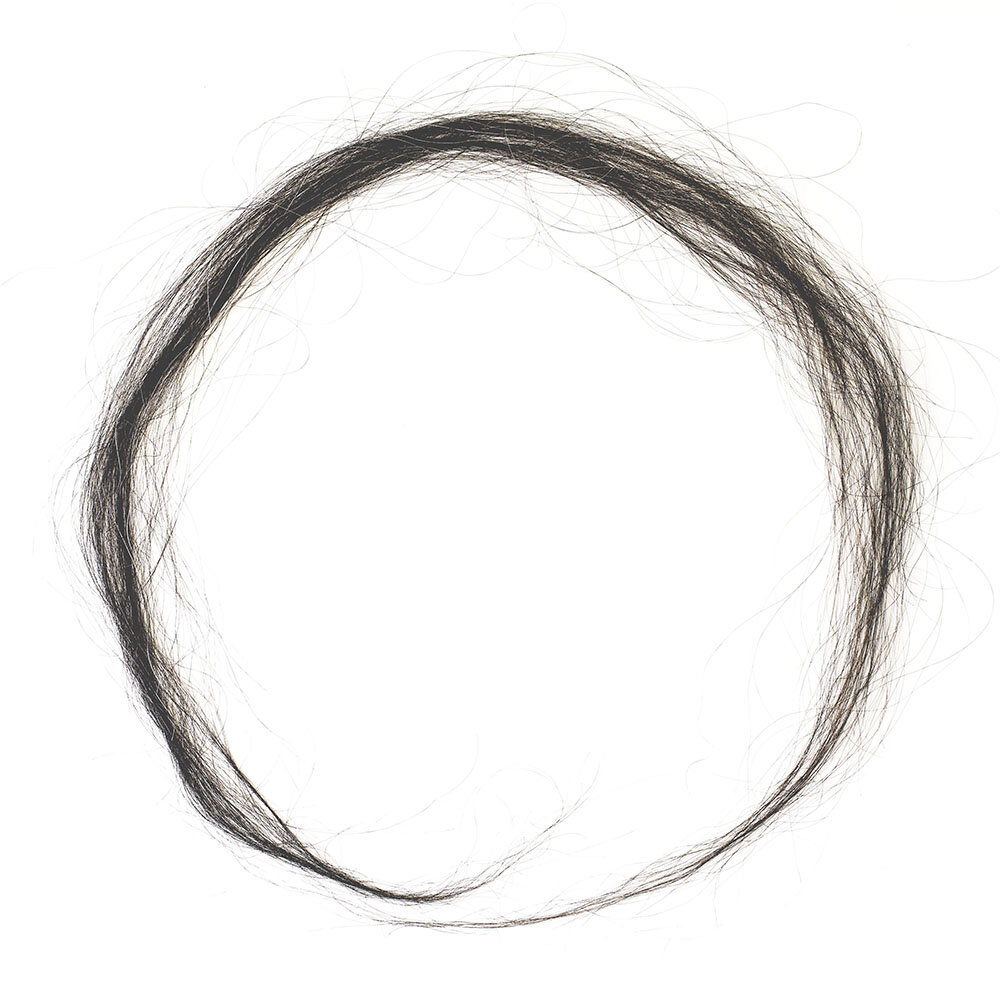 """Enso"", 2003, human hair scanned, printed on archival paper, 24 x 24 inches"