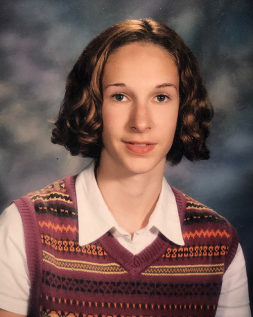 7th grade: WTF happened to my eyebrows? Apparently I had discovered tweezers…