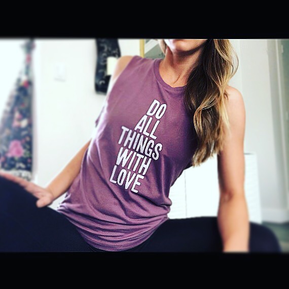 ✨ All of the things...done with love...enough said ✨ . .  #letslove  @innervisionyoga love this tank! 🙏