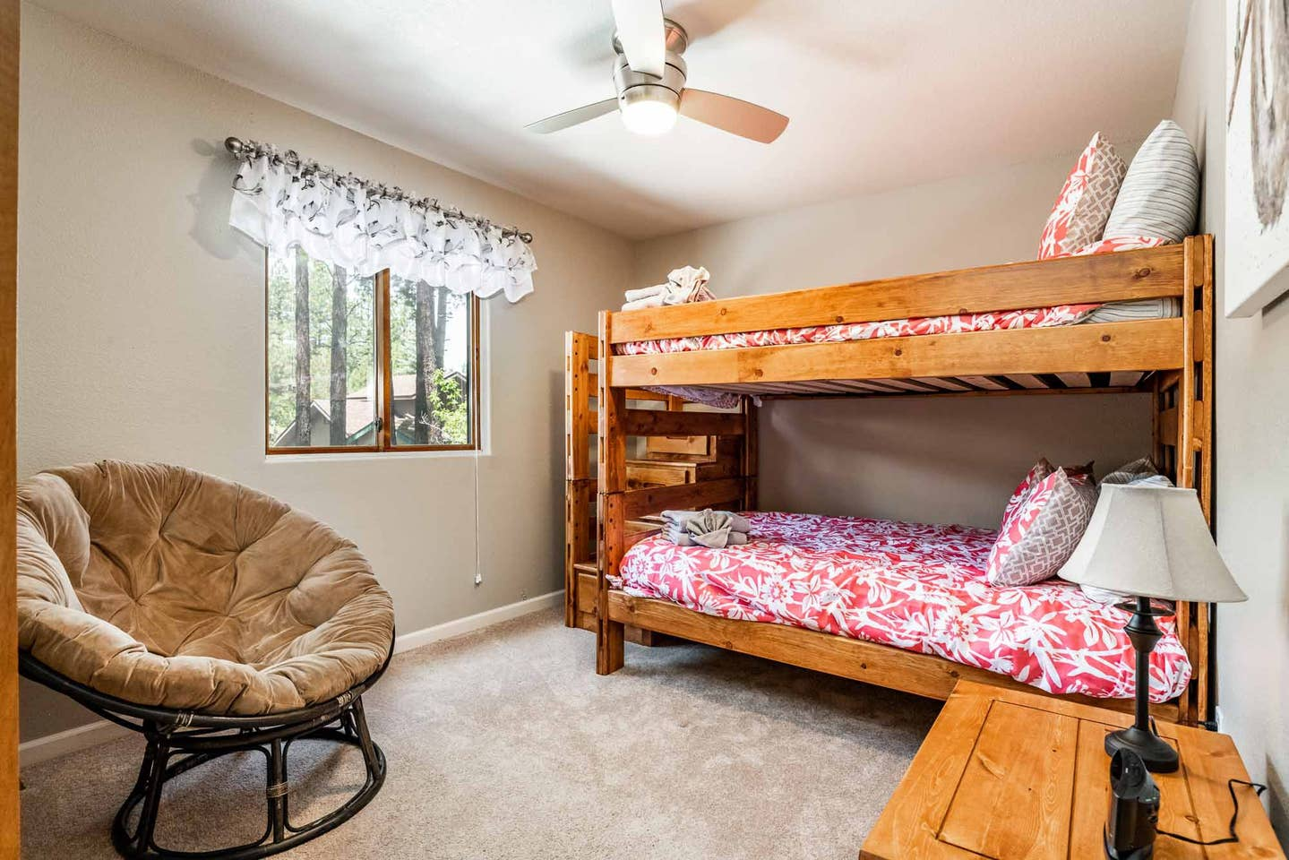 #4 The Friendship Room - This bedroom is on the main floor and is set up with a bunk bed style. It has a full bathroom just a few feet down the hall. This room can be booked for $400 per person.