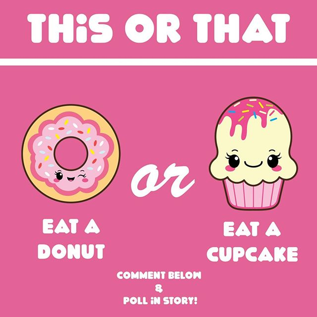 This week's This or That: Donuts or Cupcakes? I'm going to go with both because I do genuinely love cupcakes but a good gourmet donut is hella good too. Which do yall prefer? What's your favorite flavor?