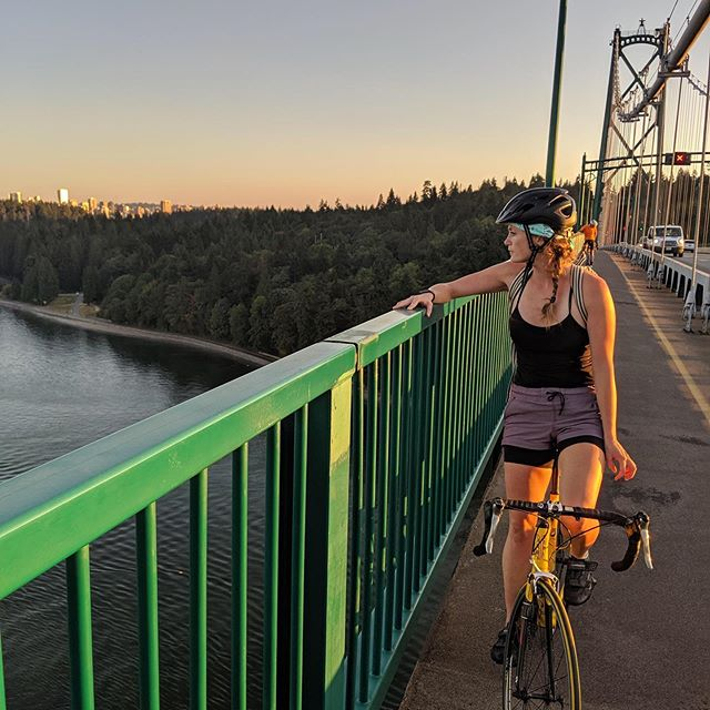 10 years with Buttercup the 🚲. Been around the world and back and still going strong with some TLC. Took 'er for a spin on Lions Gate Bridge. 📷 Cred: @sunnesays