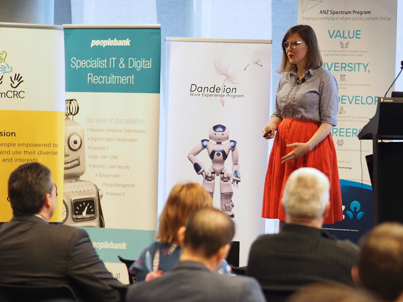 Paulette Penzvalto of Google, presenting on diversity