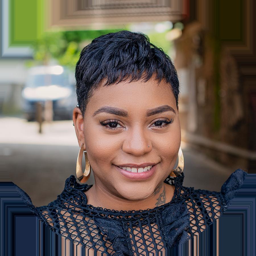 - London Hair Stylist Rianna's Headshot for LinkedIn and professional materials.
