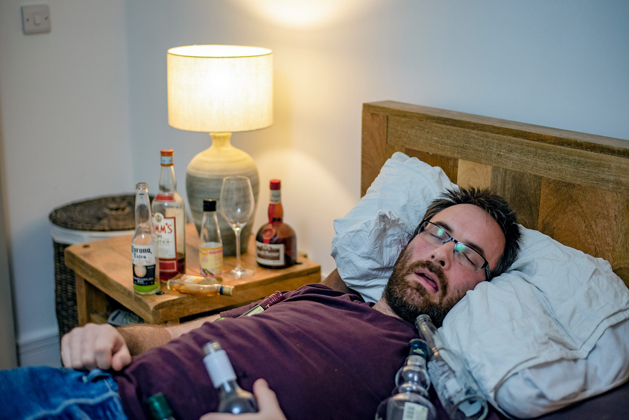 avoid alcohol - A glass is wine is fine the night before, but don't overdo it. Looking slightly green and hungover doesn't make a good headshot… Unless that's the role you are going for.