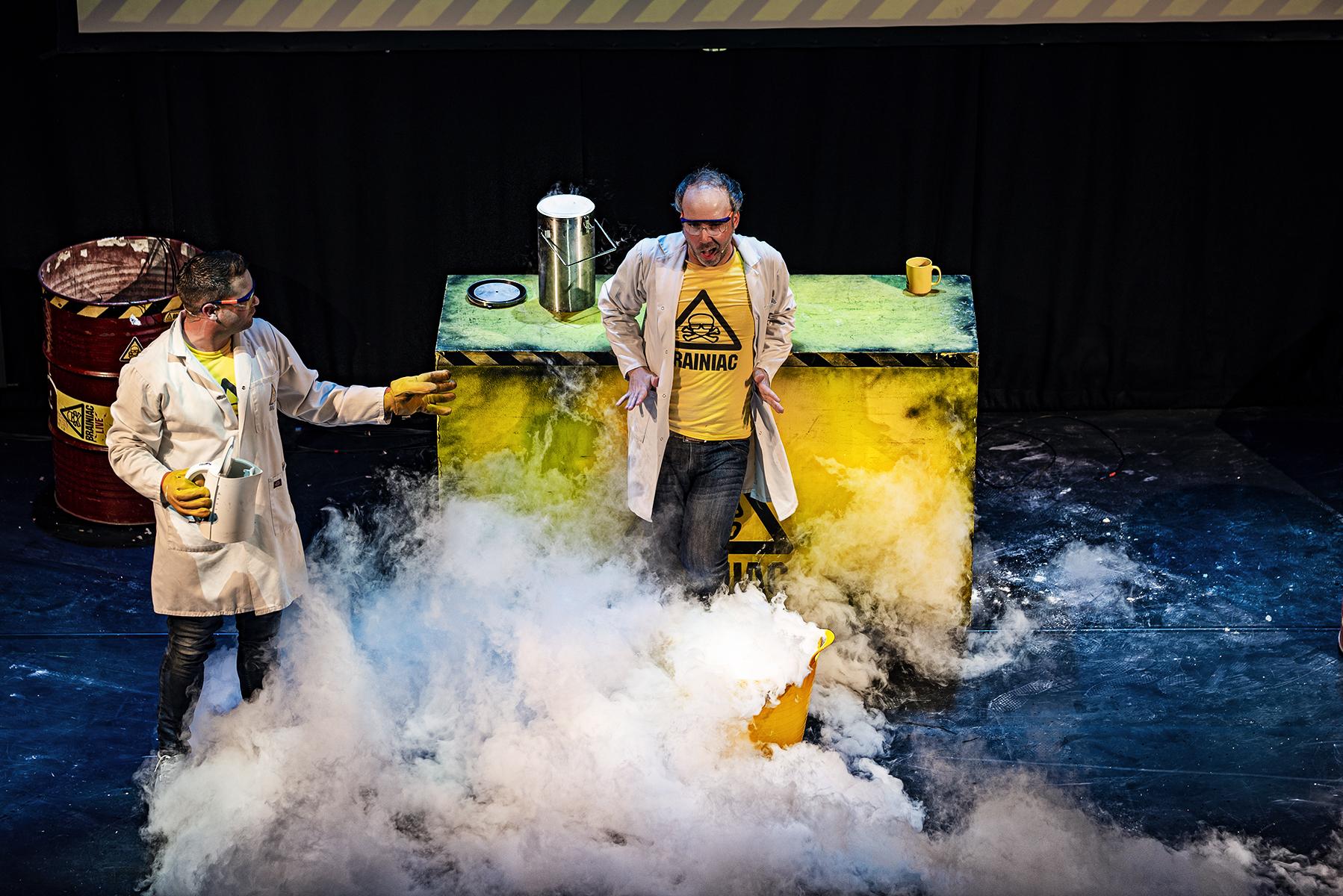 Actors Rik Warren and Andy Joyce in Brainiac Live